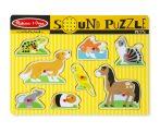 Melissa & Doug Hangos puzzle, háziállatok