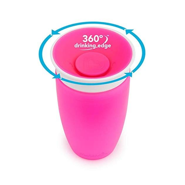 Munchkin Miracle 360 Itatópohár 300ml - pink