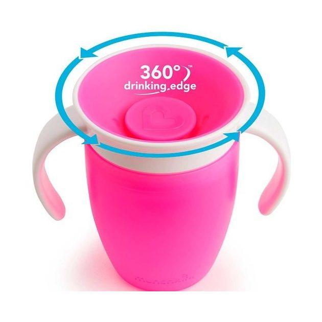 Munchkin Miracle 360 Itatópohár 200ml - pink