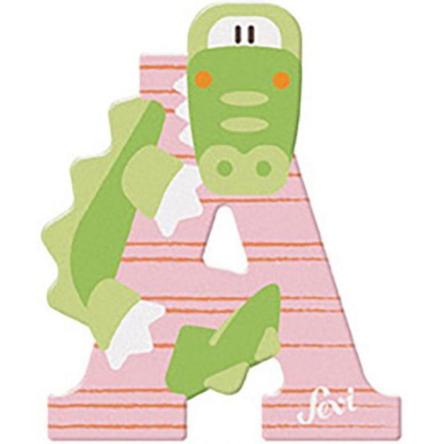 Sevi fa betűk - A - Aligátor rózsaszín