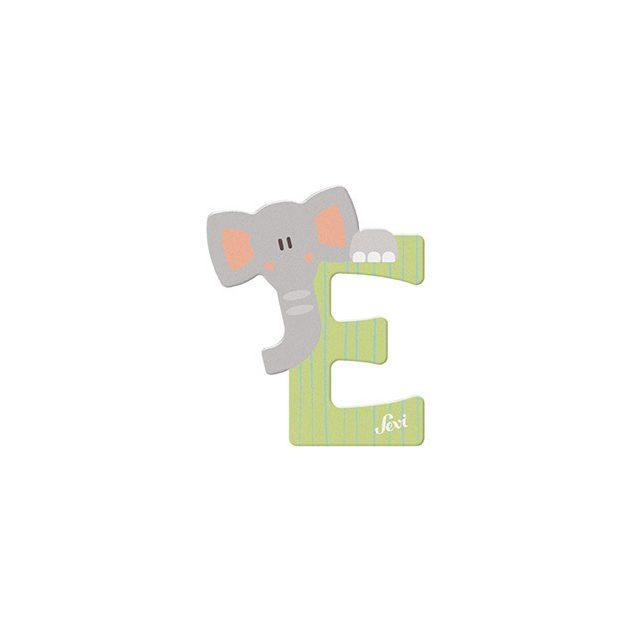 Sevi fa betűk - E - Elefánt zöld