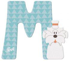 Sevi fa betűk - M - Maltese kutya v.kék