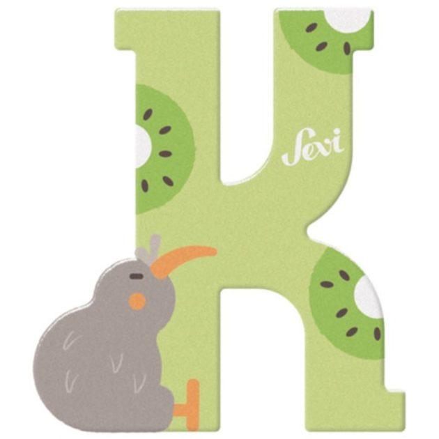 Sevi fa betűk - K - Kiwi zöld