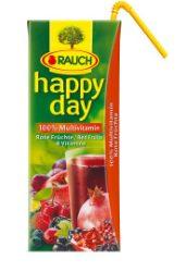 Happy Day 100% piros multivitamin szívószálas 0,2L