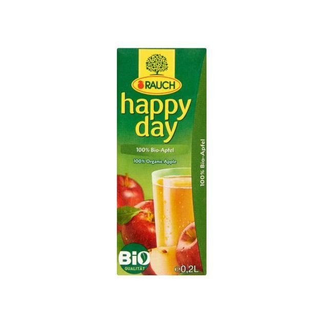 Happy Day 100% Bio almalé szívószálas 0,2L