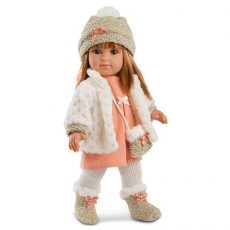 Llorens Elena 35cm-es baba fehér kardigánnal