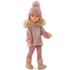 Llorens Olivia szőke baba rózsaszín ruhában 37cm-es