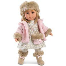 Llorens Elena 35cm-es baba kistáskával