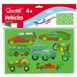 Quercetti - 4db-os Rajzoló sablon - Járművek