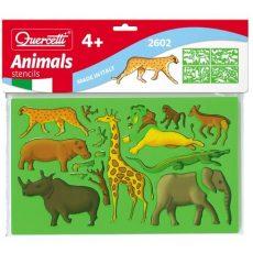 Quercetti - 4db-os Rajzoló sablon - Állatok