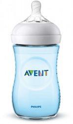 Avent SCF035/17 Natural cumisüveg 260 ml BLUE (Világoskék, fiús)