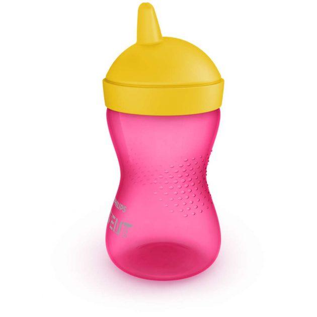 Avent SCF804/04 Kemény itatófejes pohár 300 ml RÓZSASZÍN (Rózsaszin, lányos)