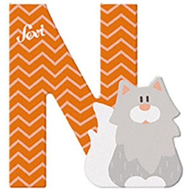 Sevi fa betűk - N - Norvég macska narancs