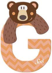 Sevi fa betűk - G - Grizzli narancs