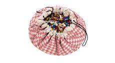 Play&Go játék tároló zsák/játszószőnyeg - rombusz rózsaszín