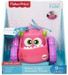 Fisher Price felhúzható szörnyjárgányok pink