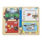 M&D, fa készségfejlesztő játék, lakatok és zárak