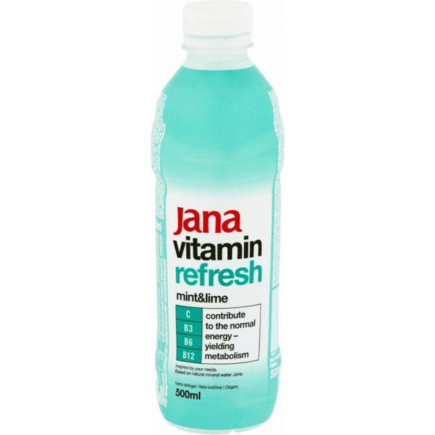 Jana Vitamin Refresh menta&lime izű üdítőital 0,5L