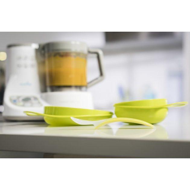Nuvita EasyEating tál + tányér - cool green - 8461