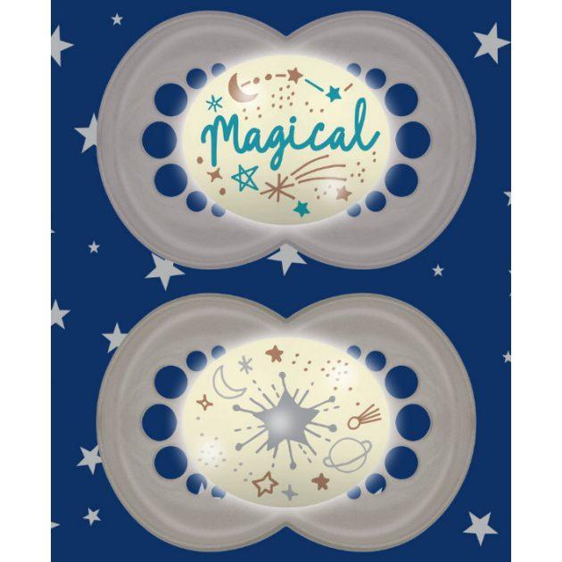 MAM Original silikon Night dupla cumi 16+ hó 718113