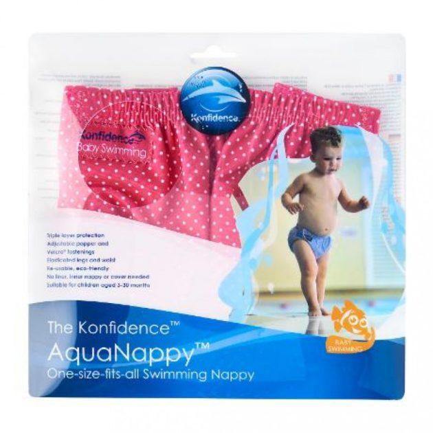 Konfidence AquaNappy Pink Polka Dot úszópelenka 3-30hó