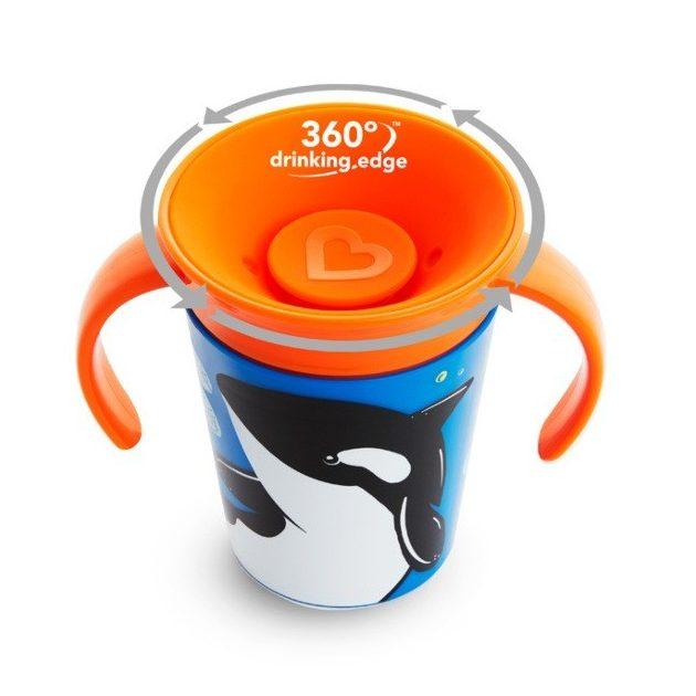 Munchkin Miracle 360 itatópohár 177ml - Wild Love Orca