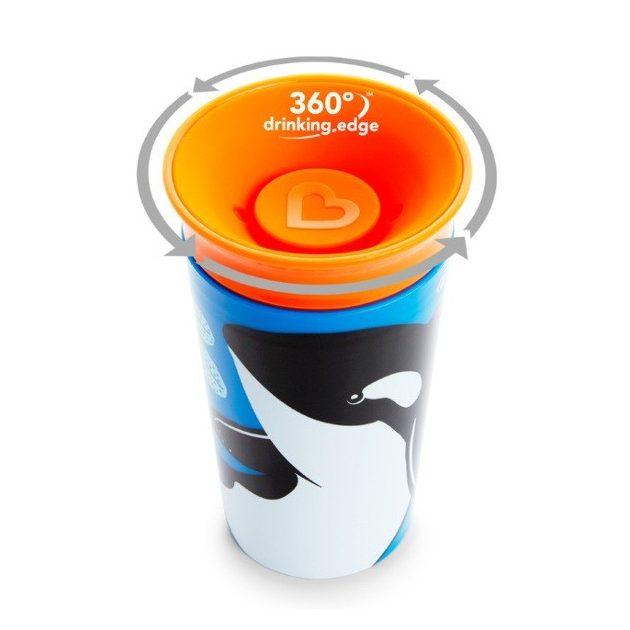 Munchkin Miracle 360 itatópohár 266ml - Wild Love Orca