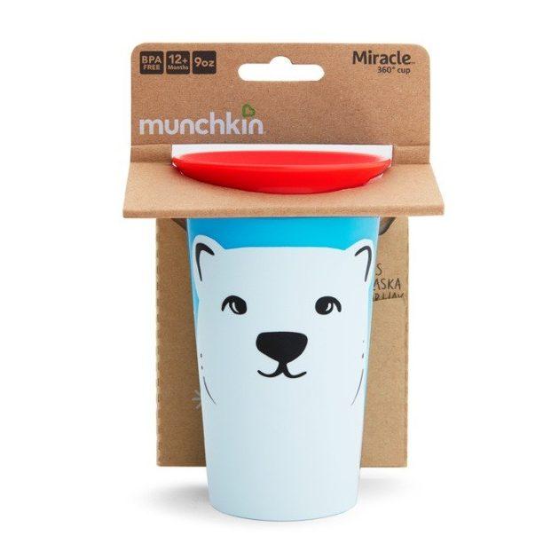 Munchkin Miracle 360 itatópohár 266ml - Wild Love Polar