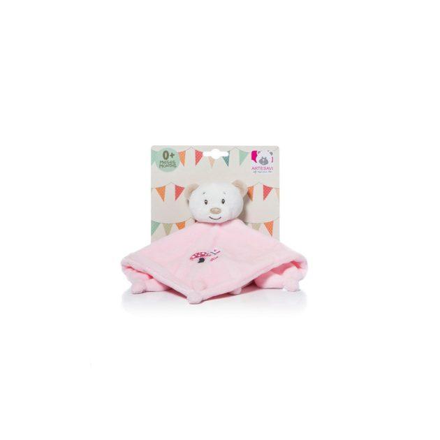 Artesavi szundikendő macis 26 cm rózsaszín