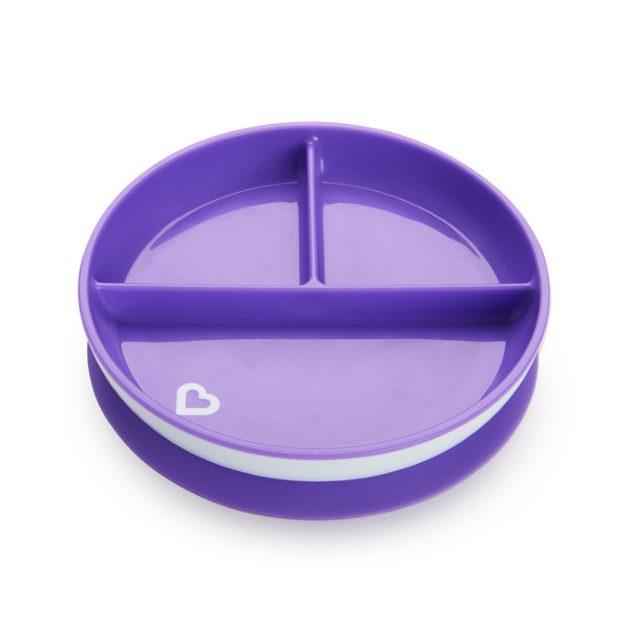 Munchkin Stay Put™ osztott tányér csúszásgátló talppal