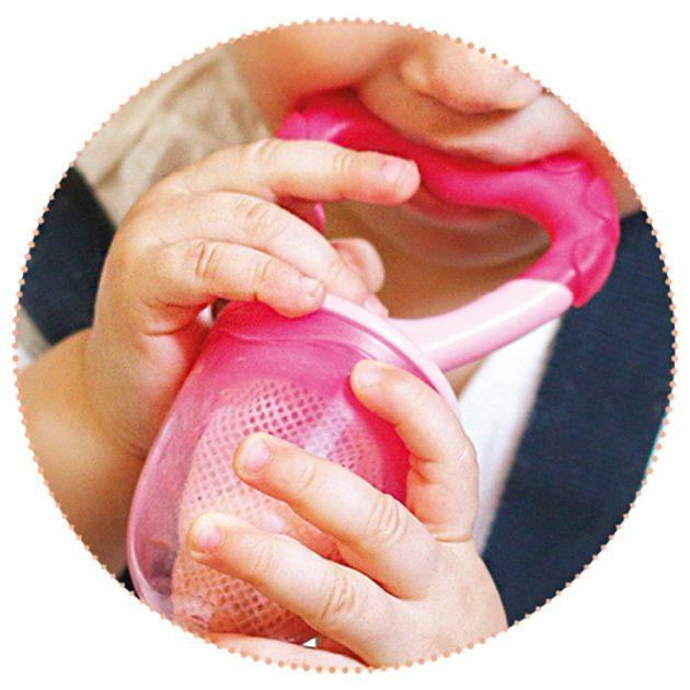 Nuvita etetőháló és rágóka - cool pink - 1417