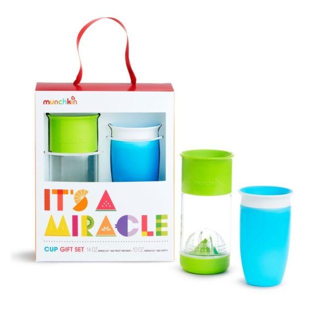 Munchkin Miracle itatópohár Ajándék szett Kék/Zöld