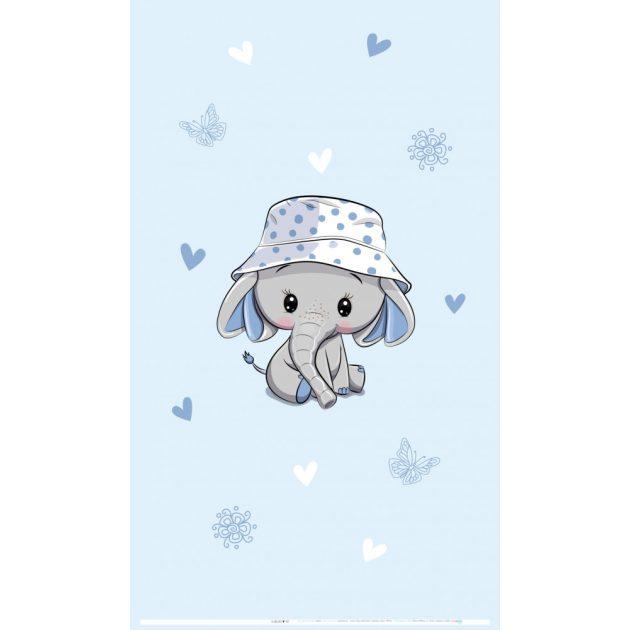 Best4Baby Elefánt kisfiú sapkában fényáteresztő, muszlin babafüggöny