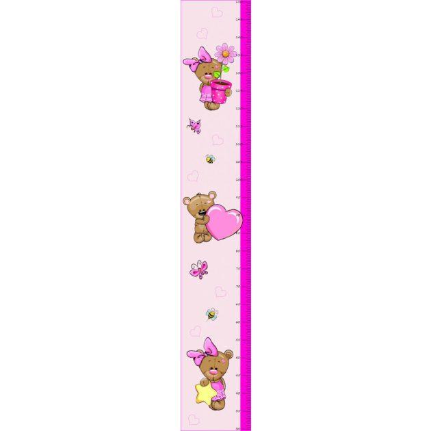 Best4Baby Maci kislány magasságmérős falmatrica - fehér