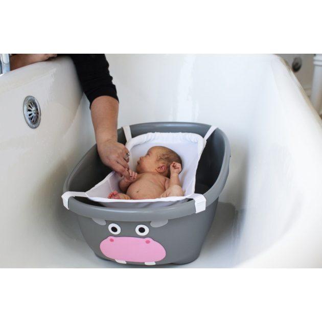 Prince Lionheart Tubimal állatos fürdőkád fürdetéskönnyítő hálóval - szürke viziló