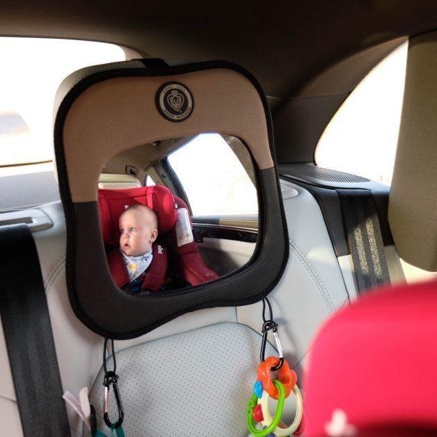 Prince Lionheart viewMIRROR fejtámlára helyezhető babafigyelő tükör - fekete/szürke