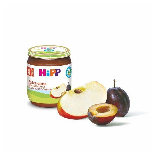Hipp Gyümölcsök Szilva-alma 4 hó 125 g