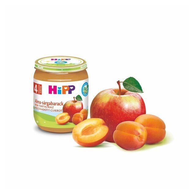 Hipp Gyümölcsök  Alma-sárgabarack 4 hó 125 g