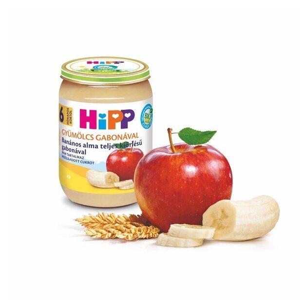 Hipp Teljesértékű gabona gyümölcsökkel Banános alma teljes kiőrlésű gabonával 6 hó 190 g