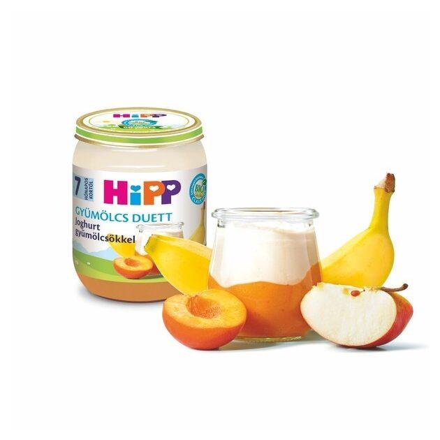 HIPP Gyümölcs Duett Joghurt gyümölcsökkel 160 g