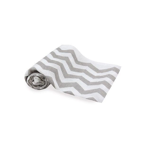 Scamp mintás textilpelenka szürke zigzag 5db