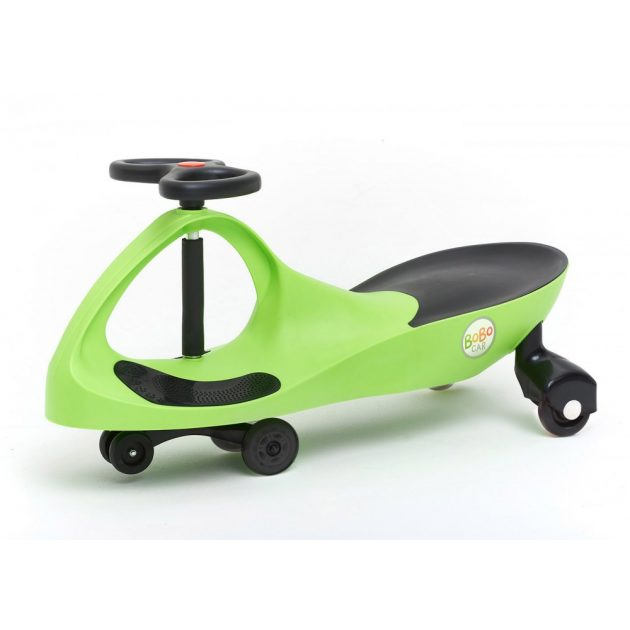 Bobocar - zöld műanyag kerékkel