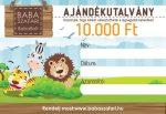 10.000 Ft értékű Babaszafari ajándék utalvány