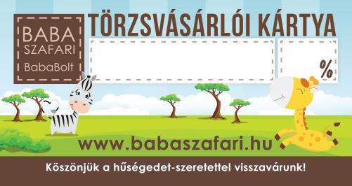 Babaszafari törzsvásárlói kártya
