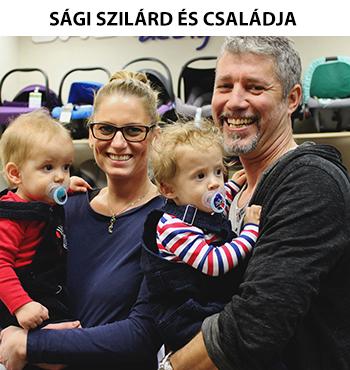 Sági Szilárd és családja