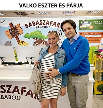 Valkó Eszter és párja