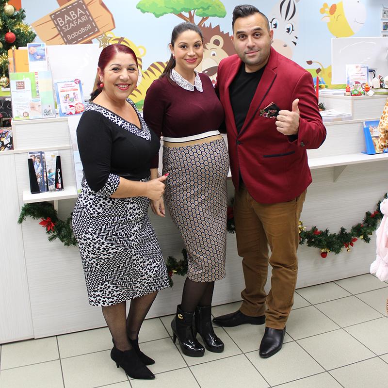 Bódi Csaba és családja