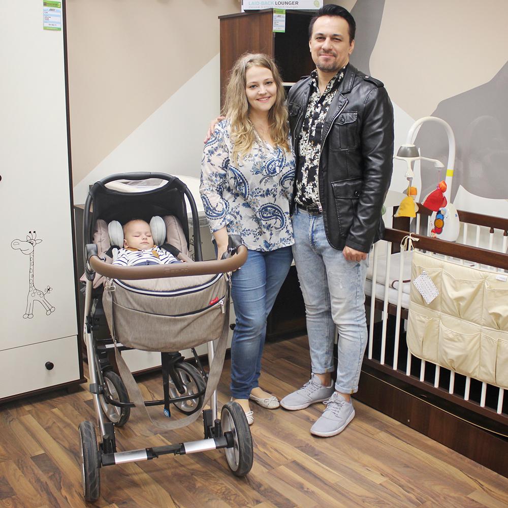 Tabáni István és családja